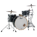 Pearl MCT943XEP/C339 Masters Maple Complete 3-Piece Shell Kit Matte Caviar Black