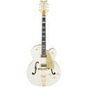 G6136T-55GE Vintage Select Edition 1955 White Falcon™ with Cadillac Tailpiece TV Jones® Vintage White Lacquer