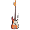 Vintage Bass V4MRSSB Icon Series P-Bass Rosewood Neck Distressed Sunset Sunburst