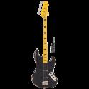 Vintage Bass VJ74MRBK Icon Series J-Bass Maple Neck Distressed Black