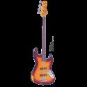 Vintage Bass V74MRJP Icon Series JP-Tribute Fretless Bass Rosewood Neck Distressed Sunset Sunburst