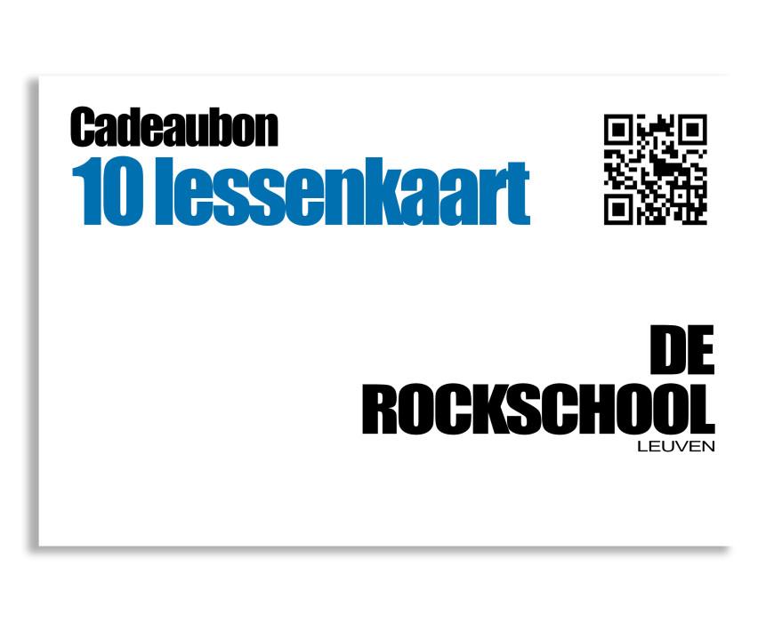 Cadeaubon Rockschool 10 lessen