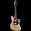 Squier Contemporary Jaguar® HH ST LF Black Pickguard Shoreline Gold
