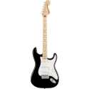 Squier Affinity Series™ Stratocaster® MN White Pickguard Black