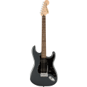 Squier Affinity Series™ Stratocaster® HH LF Black Pickguard Charcoal Frost Metallic