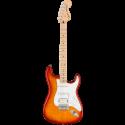 Squier Affinity Series™ Stratocaster® FMT HSS MN White Pickguard Sienna Sunburst