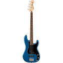 Squier Affinity Series™ P-Bass® PJ LF Black Pickguard Lake Placid Blue