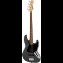 Squier Affinity Series™ Jazz Bass® LF Black Pickguard Charcoal Frost Metallic