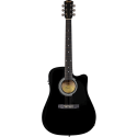 Squier SA-105CE Dreadnought Cutaway Stained Hardwood Fingerboard Black