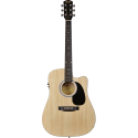Squier SA-105CE Dreadnought Cutaway Stained Hardwood Fingerboard Natural