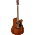 Fender CD-60SCE All Mahogany Dreadnought Cutaway Natural