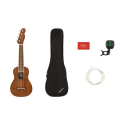 Fender Seaside Soprano Ukulele Pack Walnut Fingerboard Natural
