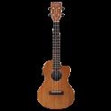 Gretsch G9121 A.C.E. Tenor Ukulele with Gig Bag Ovangkol Fingerboard Acoustic-Cutaway-Electric, Fishman® Kula Pickup Honey Mahogany Stain