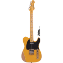 Vintage Guitars V52MRBS Icon Series Maple Neck Distressed Butterscotch