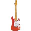 VintageV6MFR Maple Neck Firenza Red