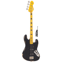 Vintage Bass VJ74MRBK Icon Series J-Bass Maple Neck Distressed Black