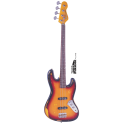 Vintage Bass V74MRJP Icon Series JP-Tribute Fretless Bass Rosewood Neck Distressed Sunset Sunburst