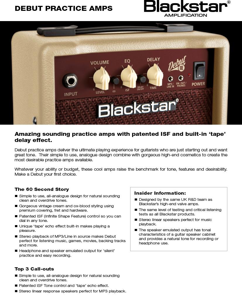 Debut-Blackstar